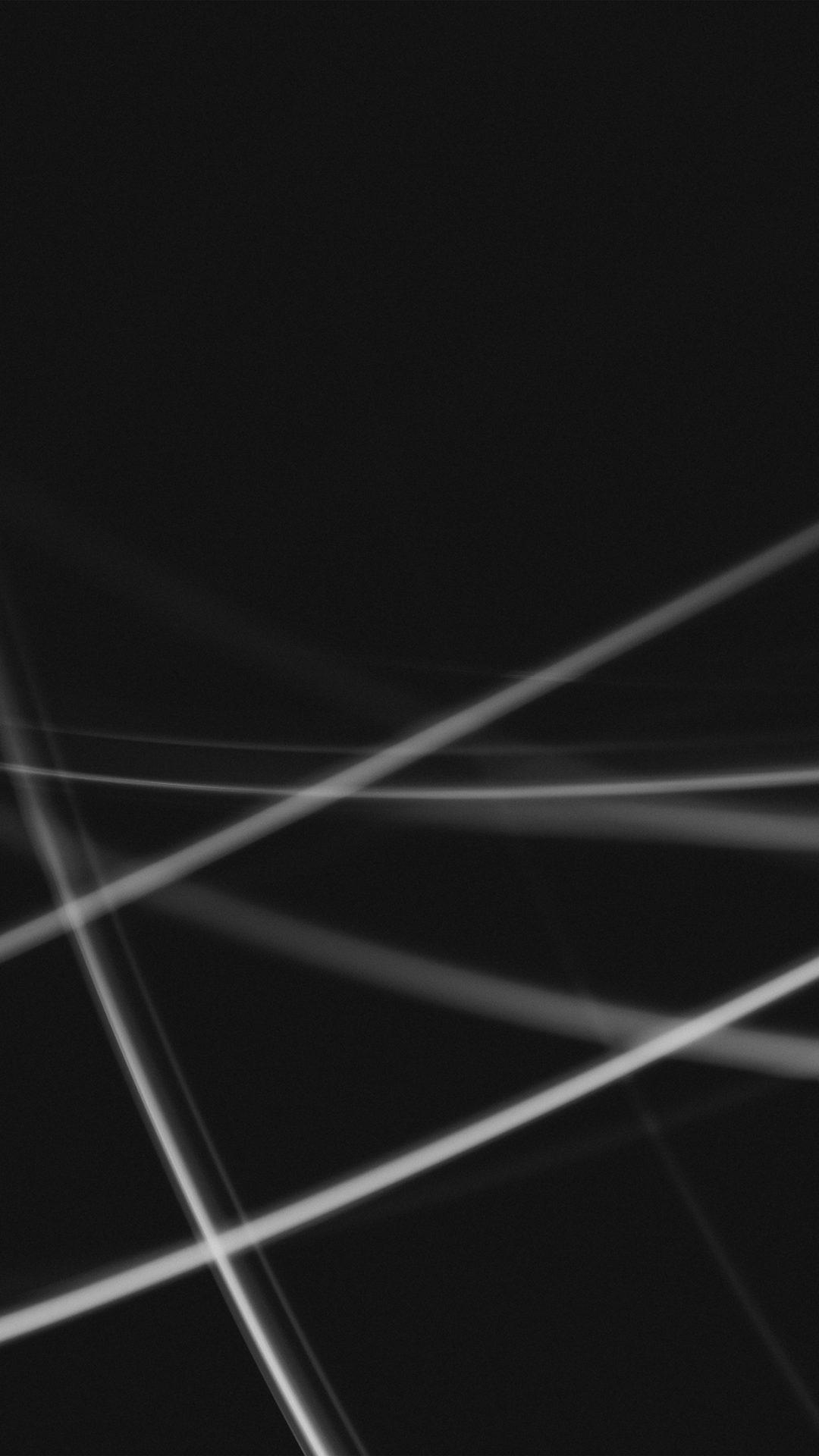Dark Line Abstract Pattern Bw