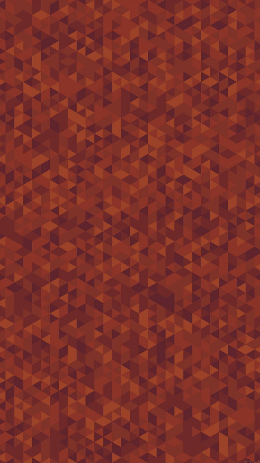 Diamonds Abstract Art Orange Pattern