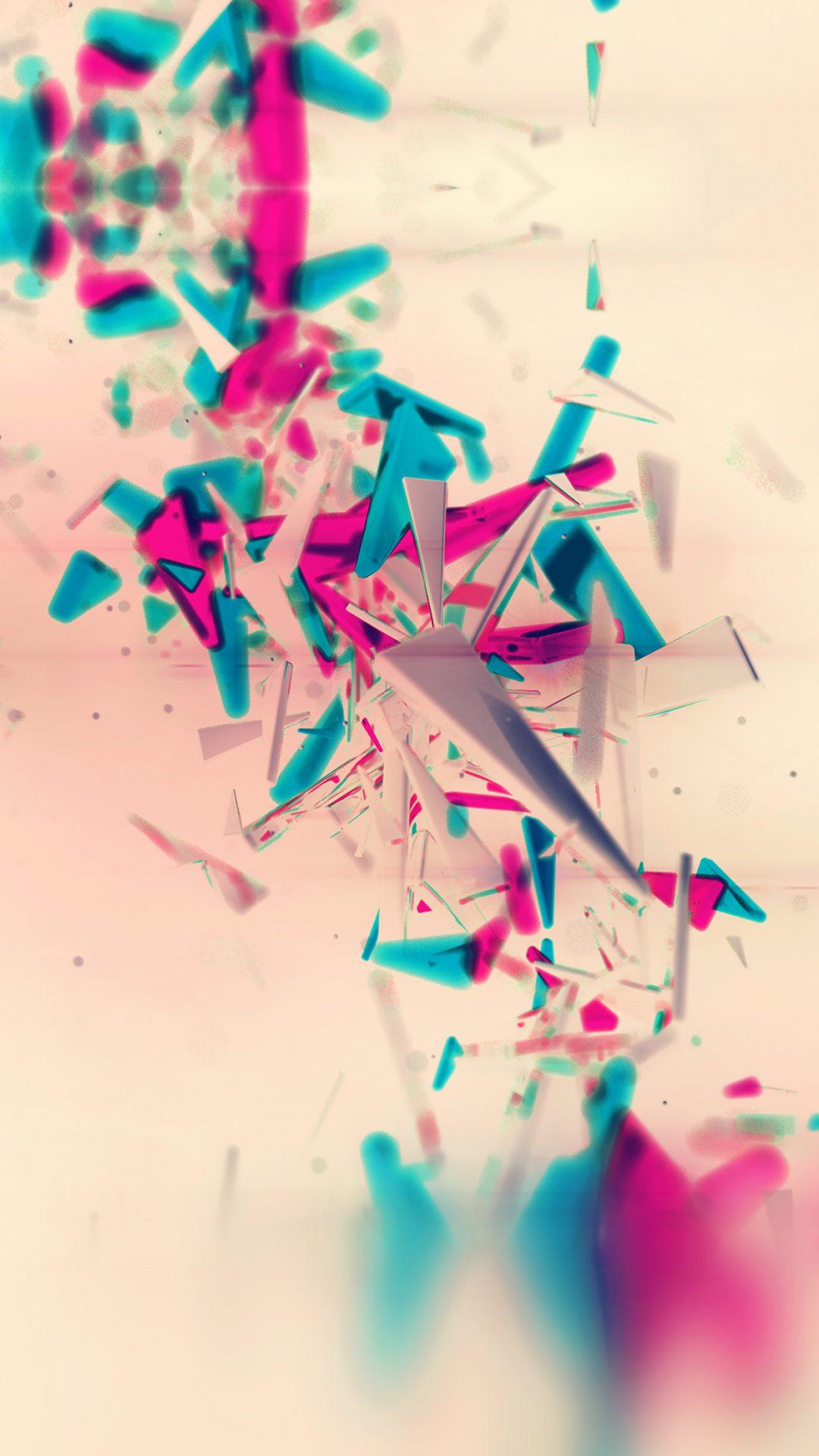 Galaxy Nexus 7 Abstract Pink Digital Pattern