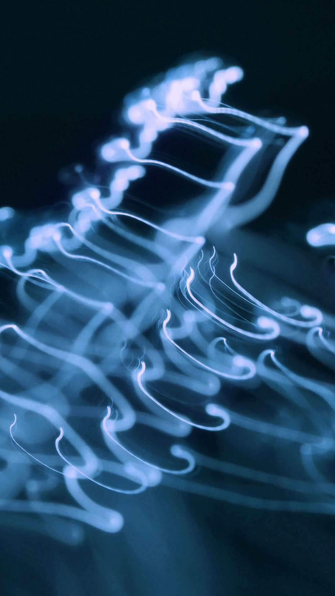 Ink Blue Soft Dark Smoke Bokeh Pattern