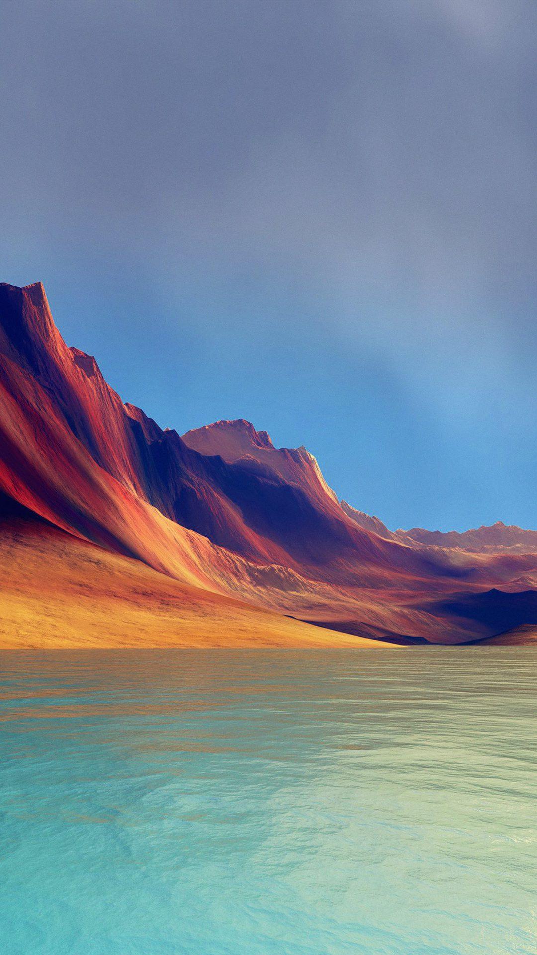 Lg G Flex Art Mountain Digital Blue Abstract