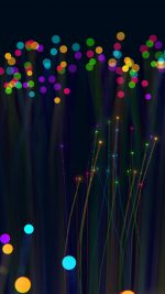 Light Art Dark Rainbow Color Bokeh Pattern