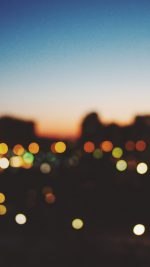 Light Bokeh Sunset City
