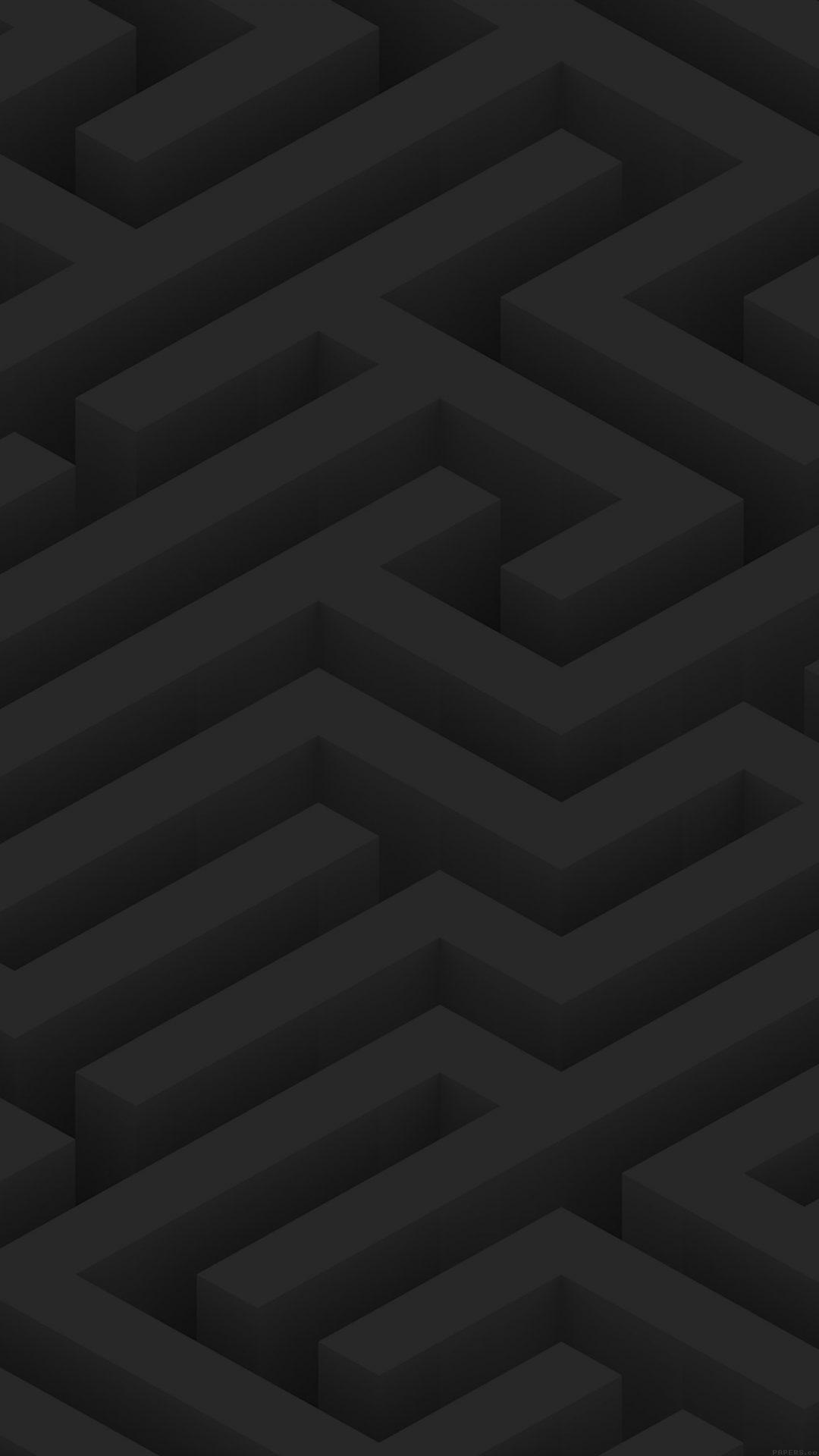 Maze Art Dark Abstract Patterns