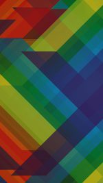 Multicolored Polygons Pattern Art Abstract