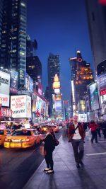 New York Street Night City