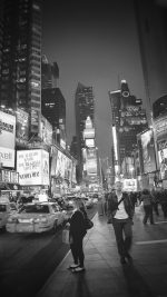New York Street Night City Dark Bw Vignette