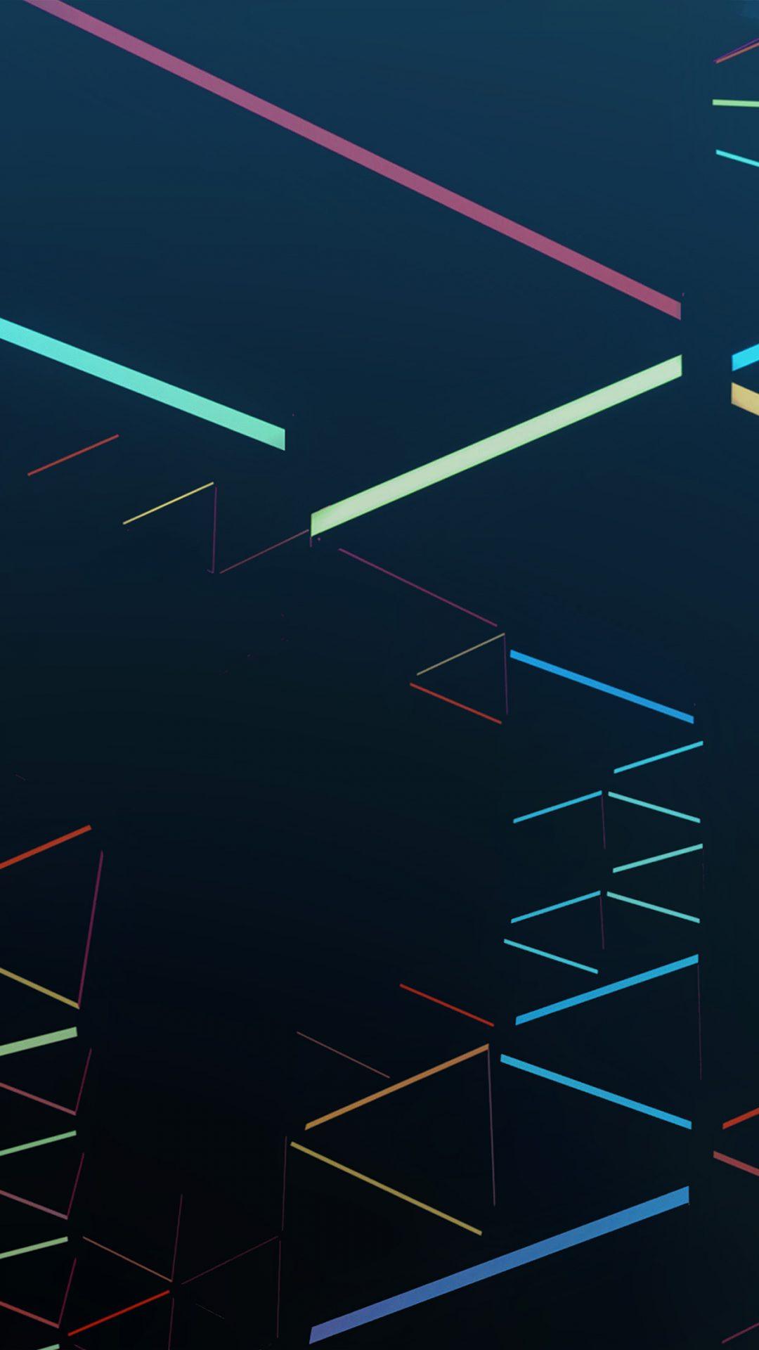 Nexus 7 Abstract Line Rainbow Blue Pattern
