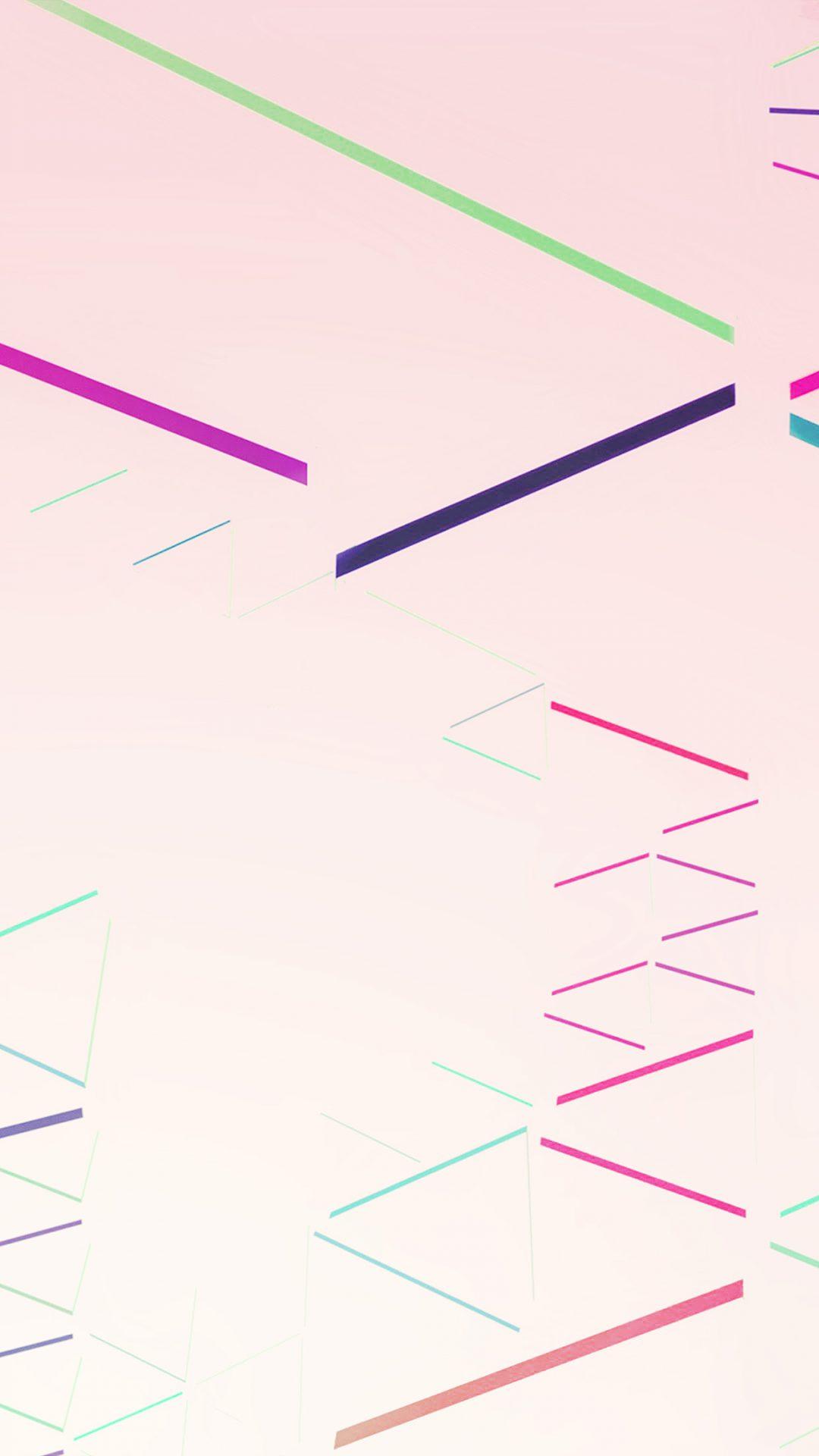 Nexus 7 Abstract Line Rainbow Pink Pattern
