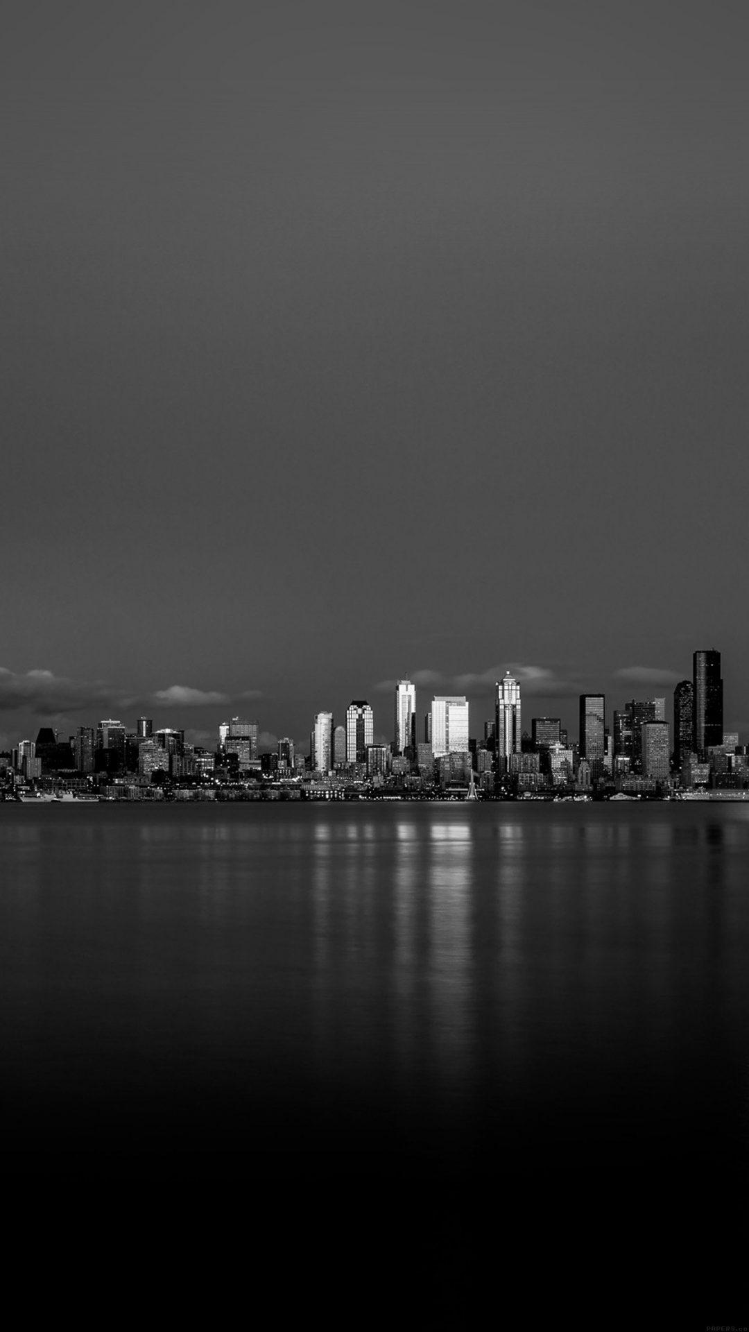 Night City View Dark Bw Nautre Art