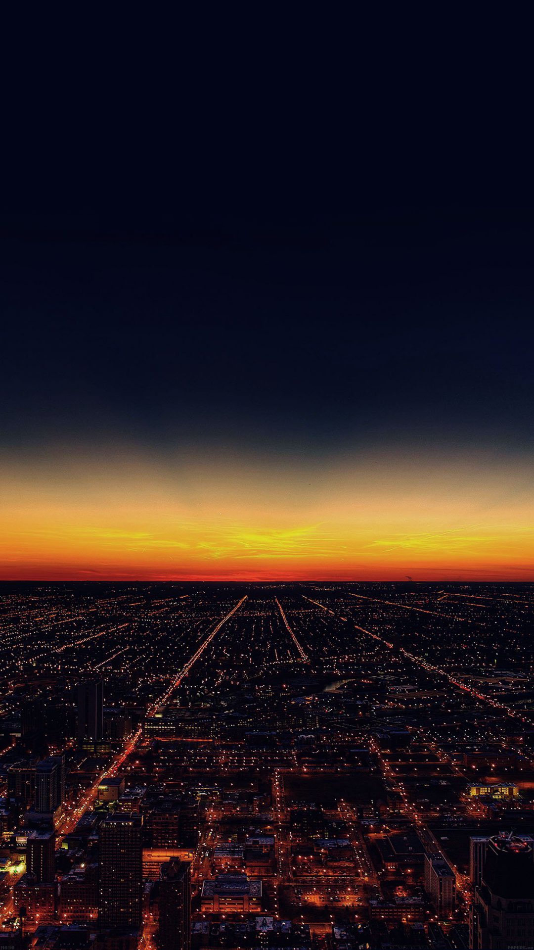 Night Sky Flying Sunset City