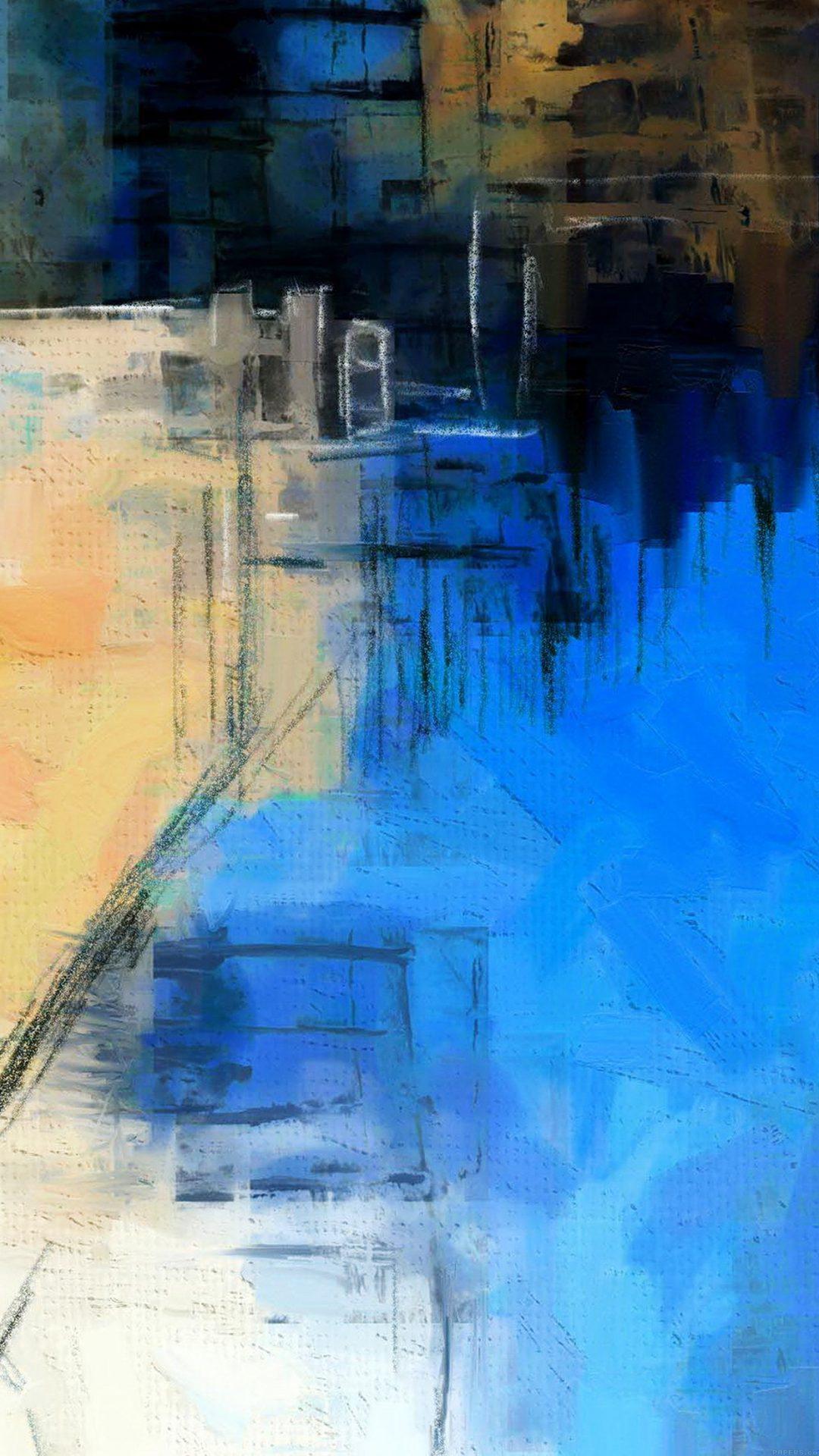 Paint Art Blue Illust Diet Abstract