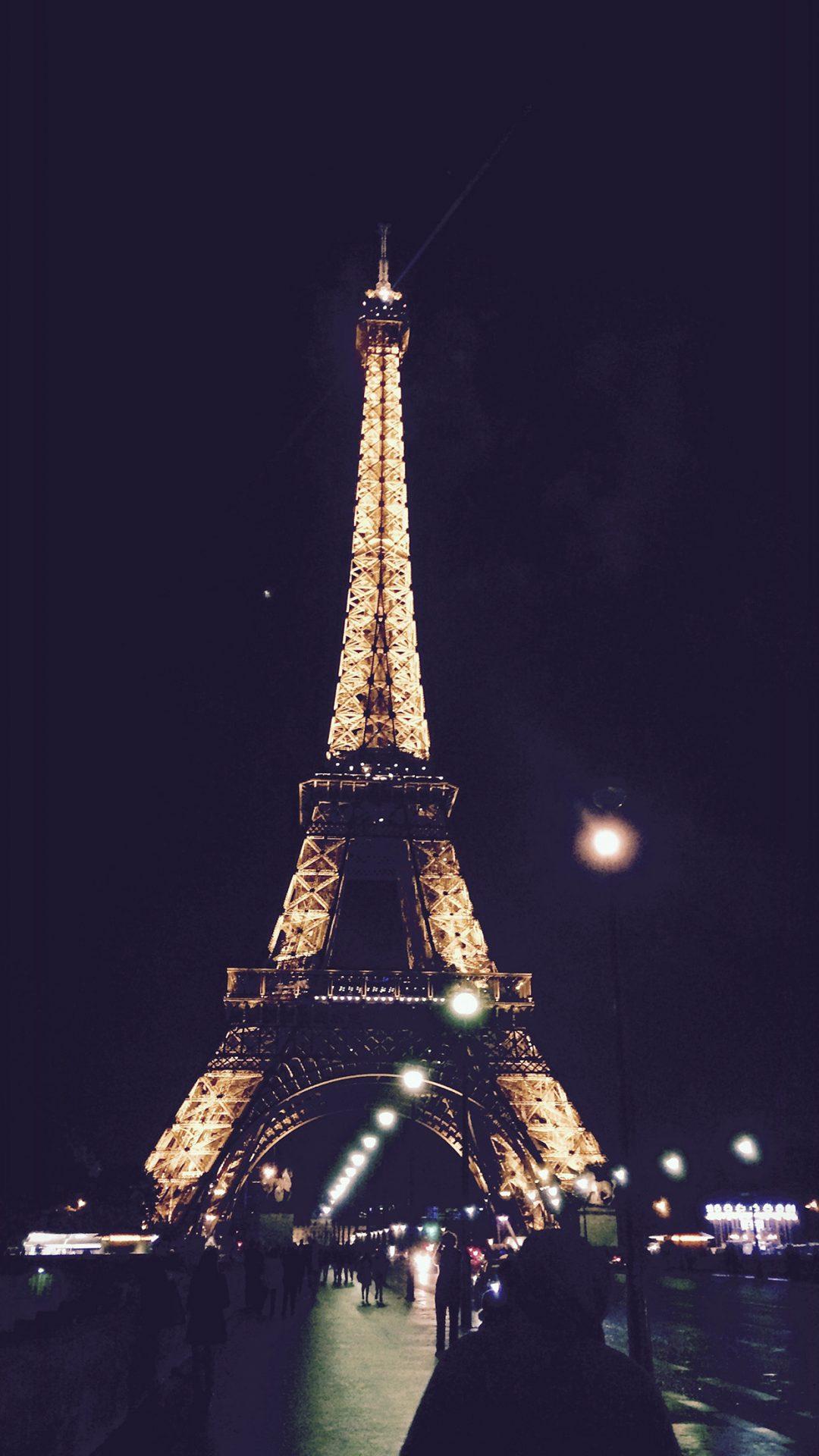 Paris City Art Night France Eiffel Tower