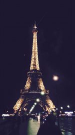 Paris City Art Night France Eiffel Tower