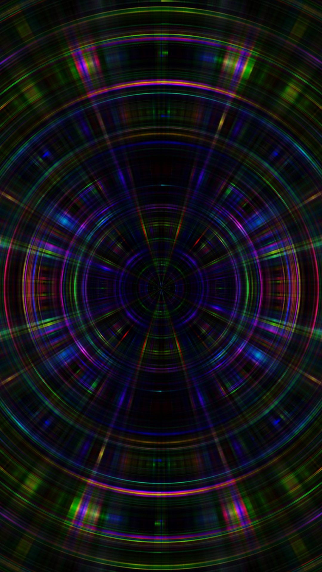 Psychic Color Circle Abstract Dark Rainbow Pattern