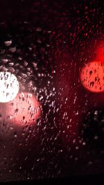 Rainy Night Drops Bokeh Red Light Pattern