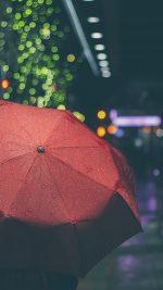 Rainyday Umbrella Bokeh City Night Dark