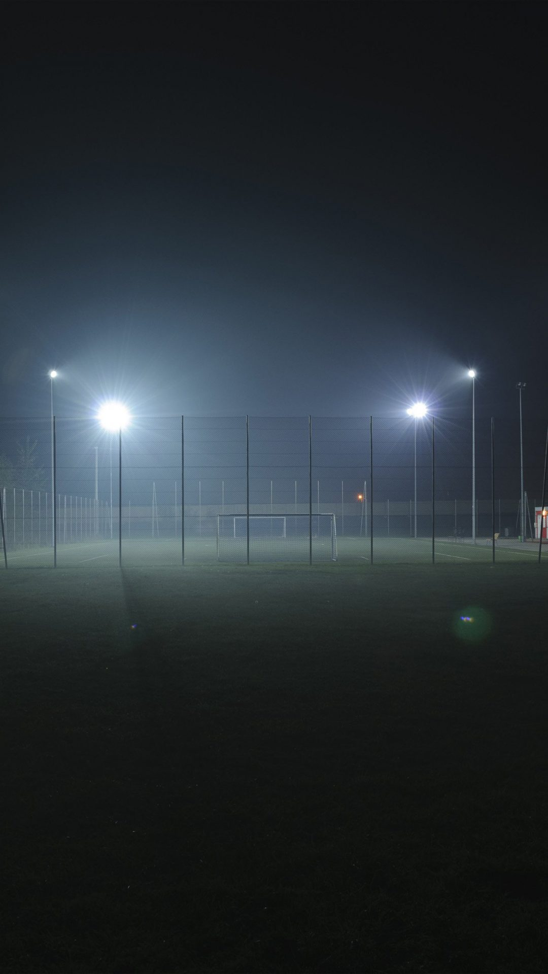 Soccer Field City Night Light Dark