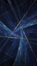 Triangle Art Abstract Blue Dark Pattern