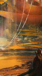 Wadim Kashin Paint Abstract Red Illustration Art