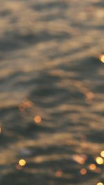 Wallpaper Night Lake Golden Bokeh Blur