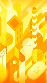 Android Lollipop Lg Yellow Cute Illust Pattern