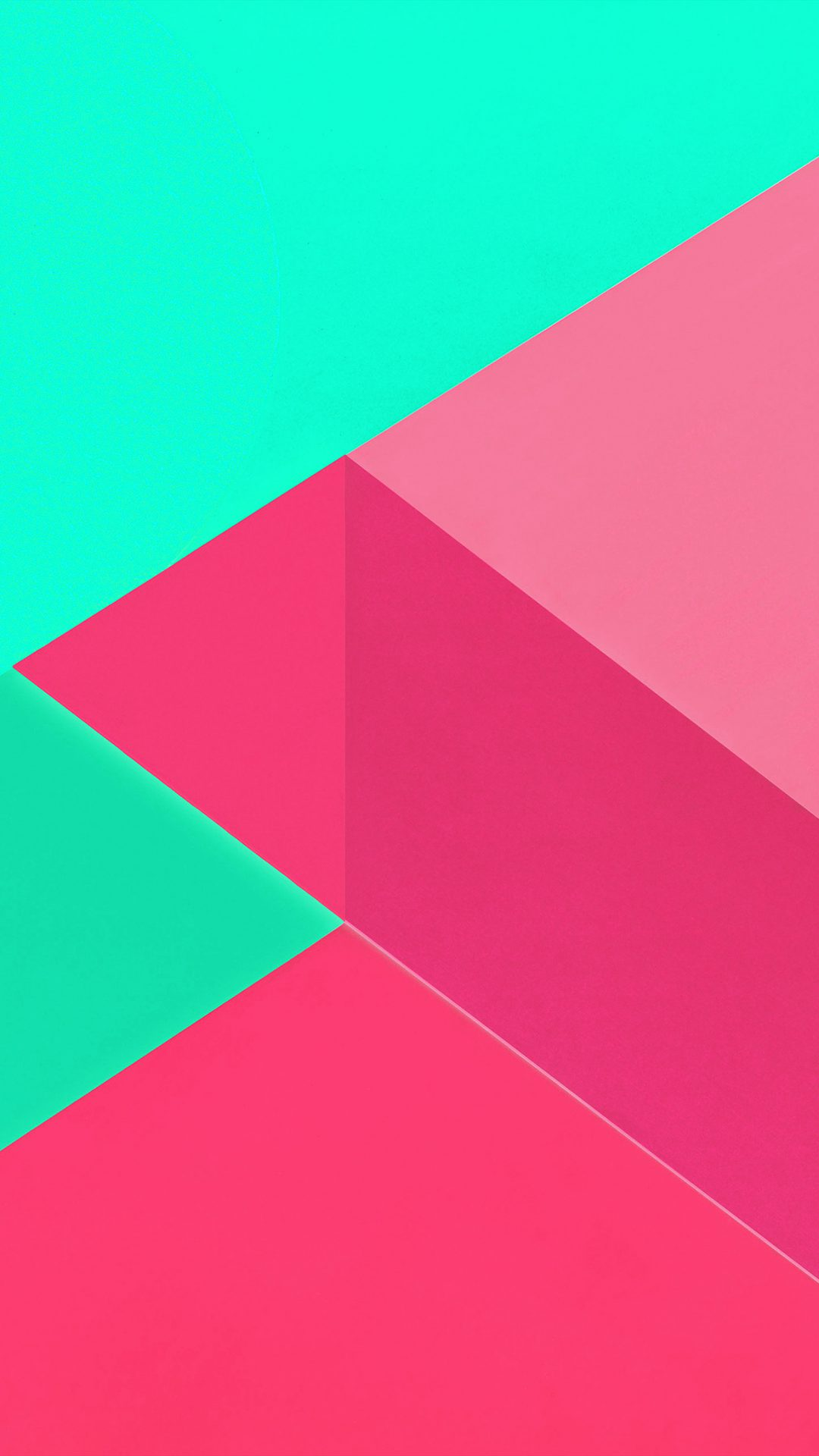 Android Marshmallow New Green Pink Pattern