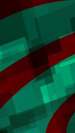 Art Green Red Block Angle Abstract Pattern
