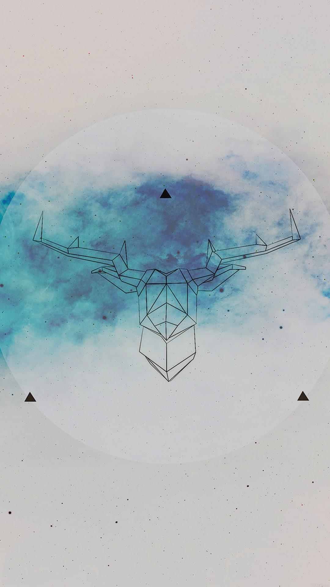 Art Illust Deer Space Cool