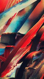 Art Paint Hampus Olsson Pattern Red Dark Abstract