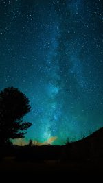 Aurora Night Sky Star Space Nature Dark