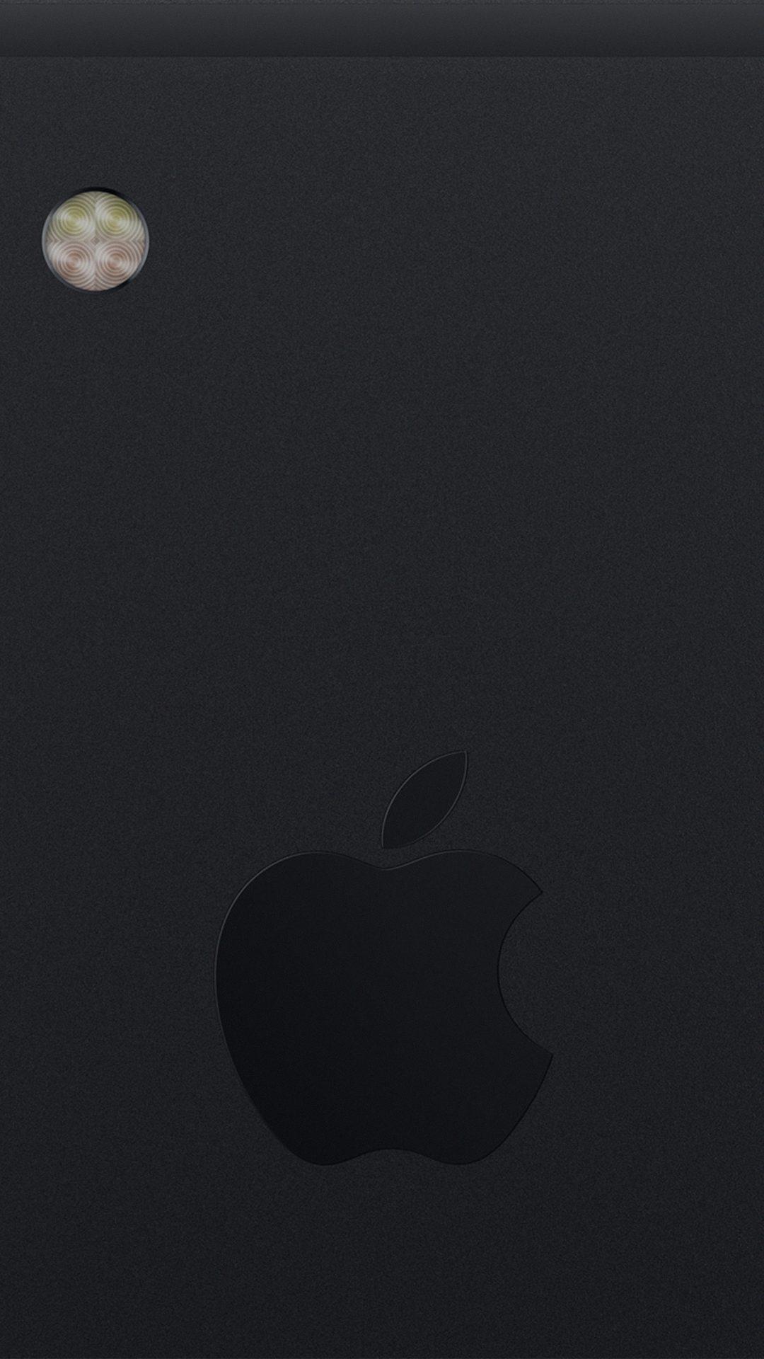 Back Iphone7 Black Apple Art Illustration