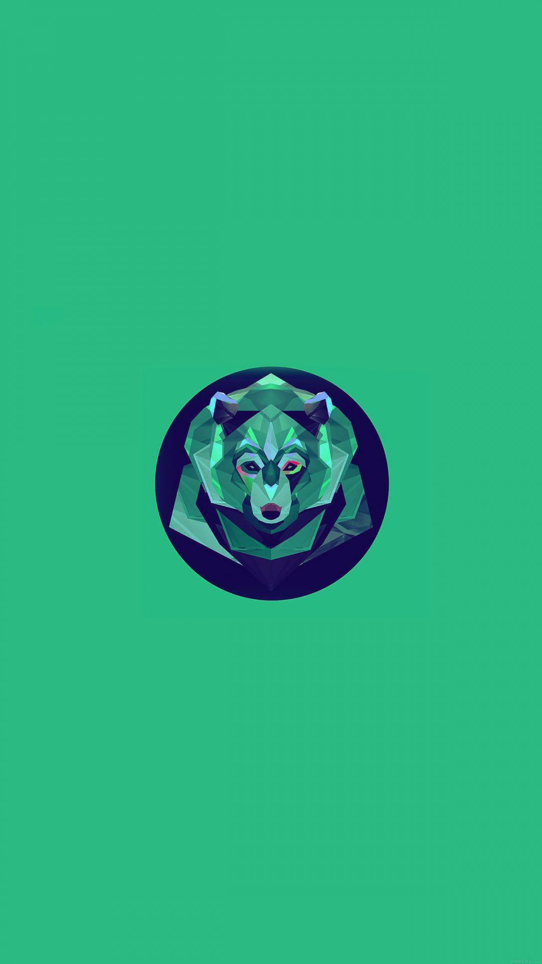 Bear Polygon Art Animal Green