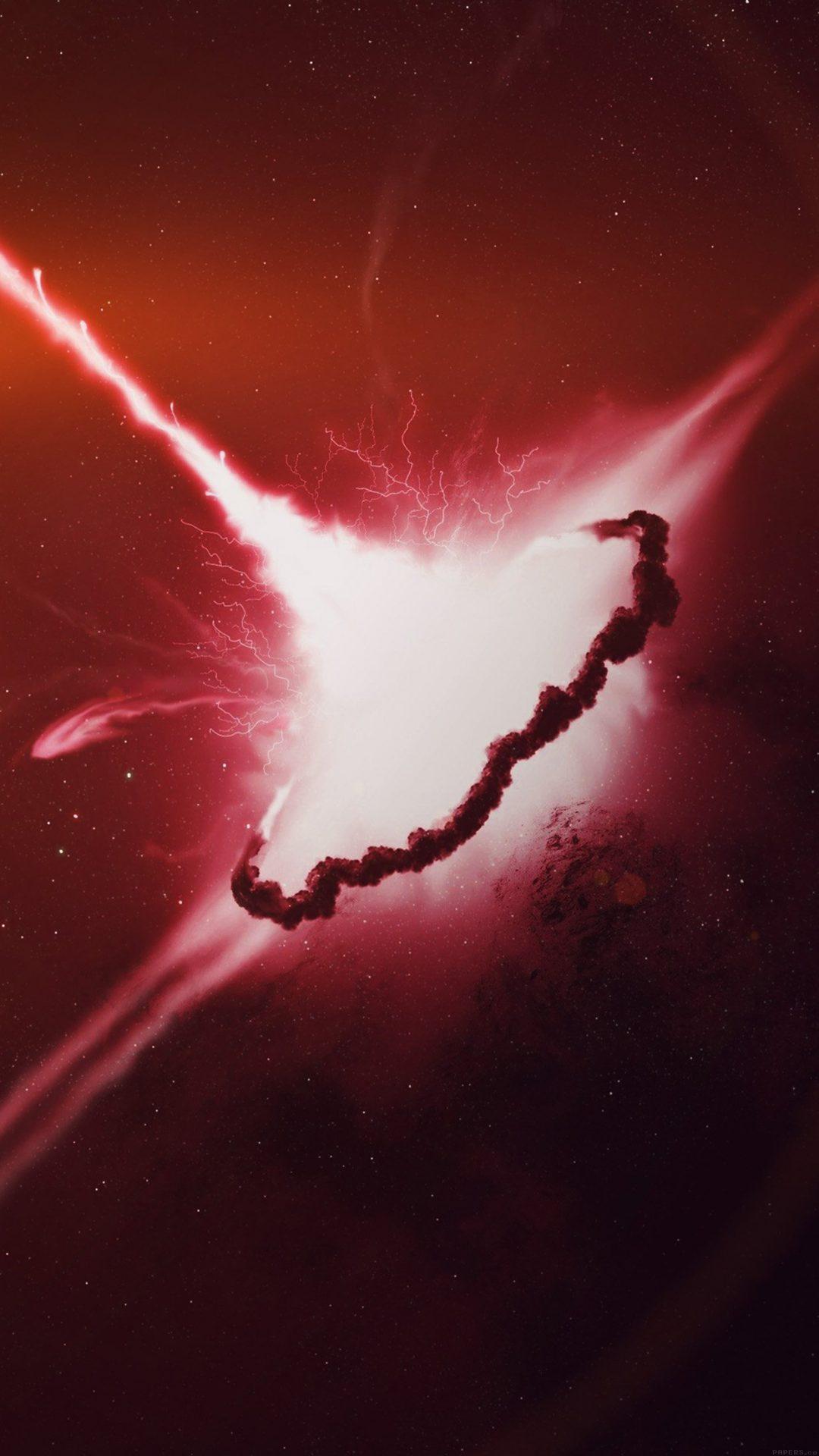Big Bang Space Red Explsion Art Illust