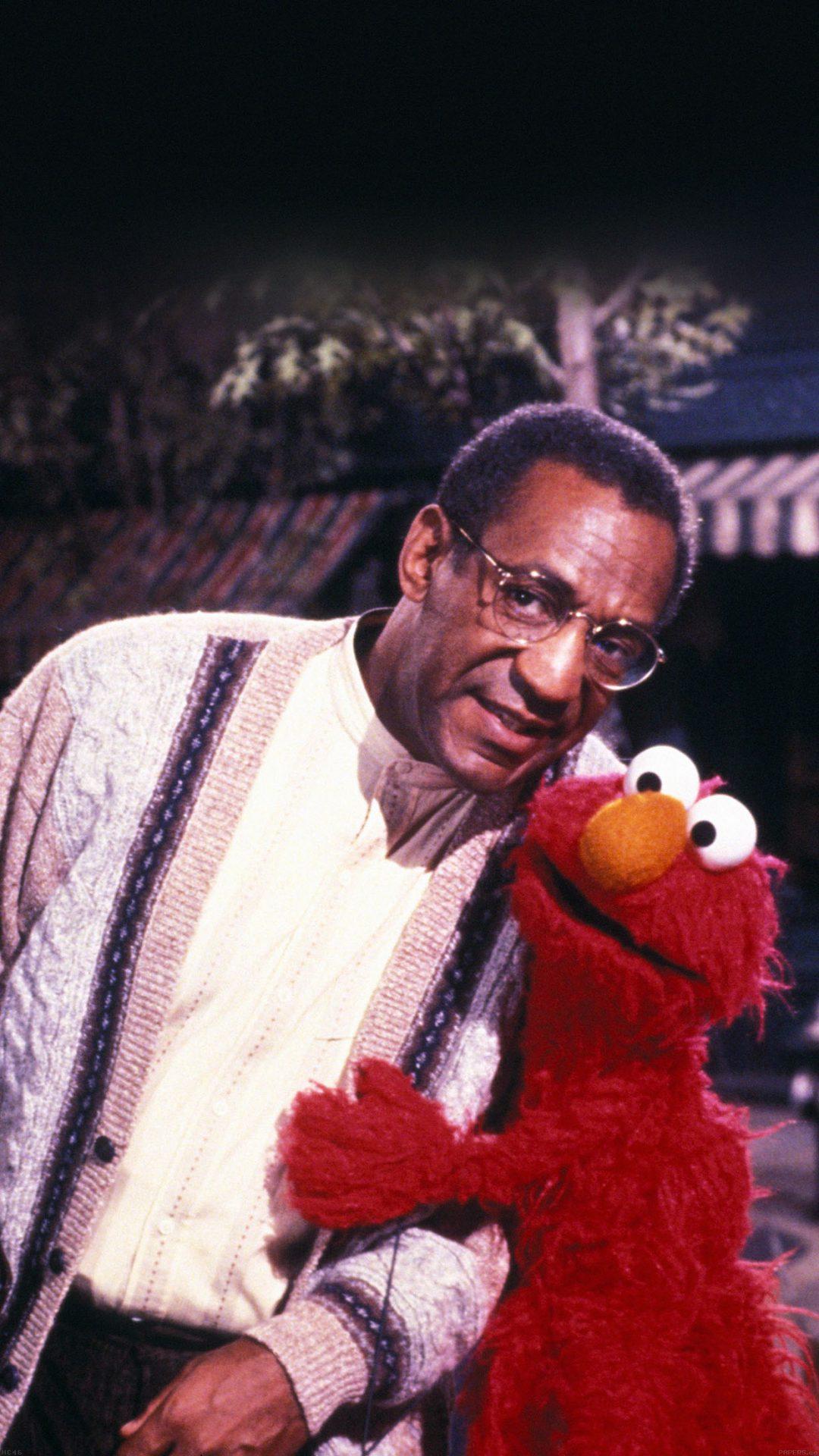 Bill Cosby With Sesame Street Elmo