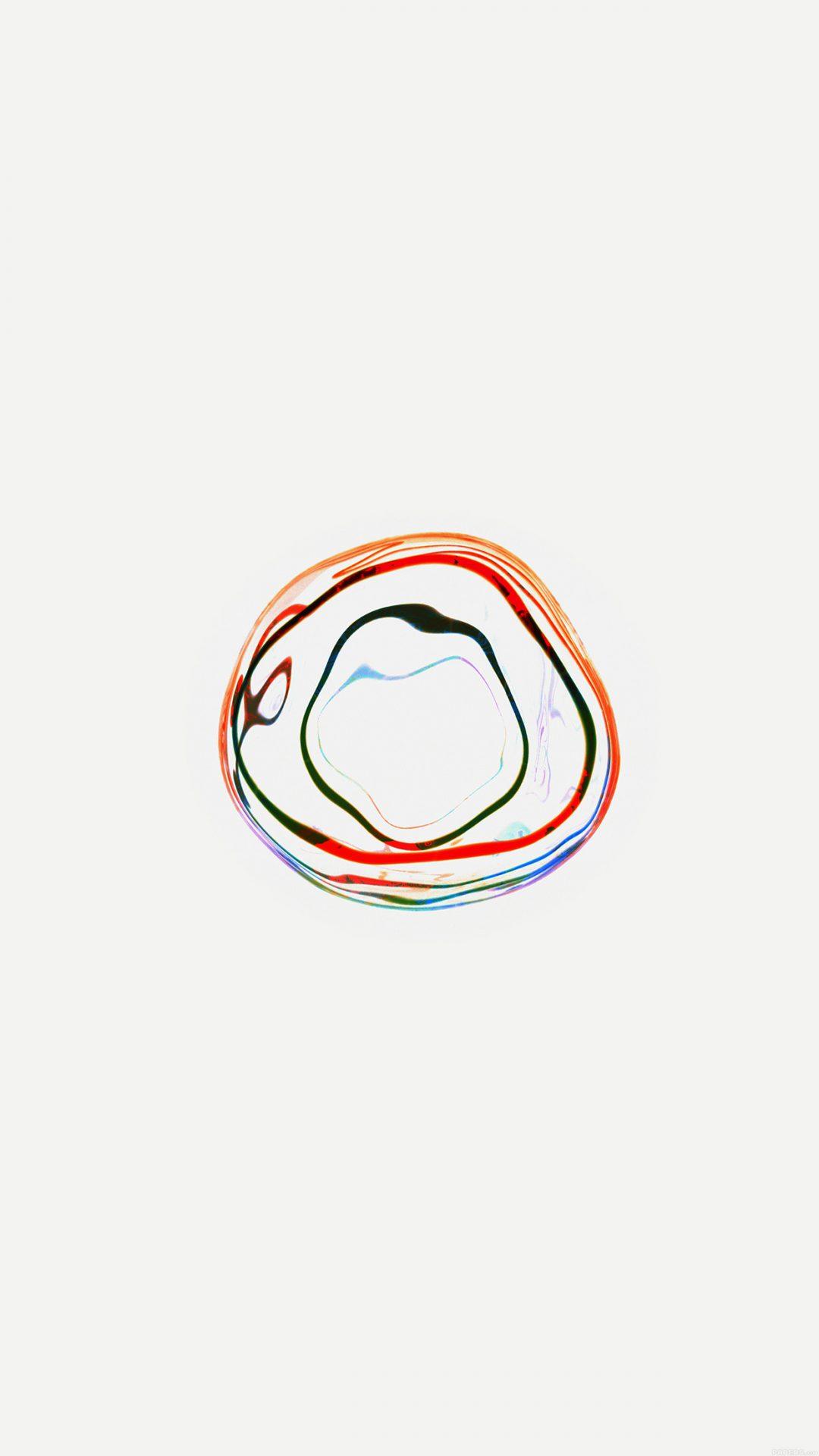 Bubble Apple Watch White Minimal Art