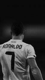 Cristiano Ronaldo 7 Real Madrid Soccer Dark
