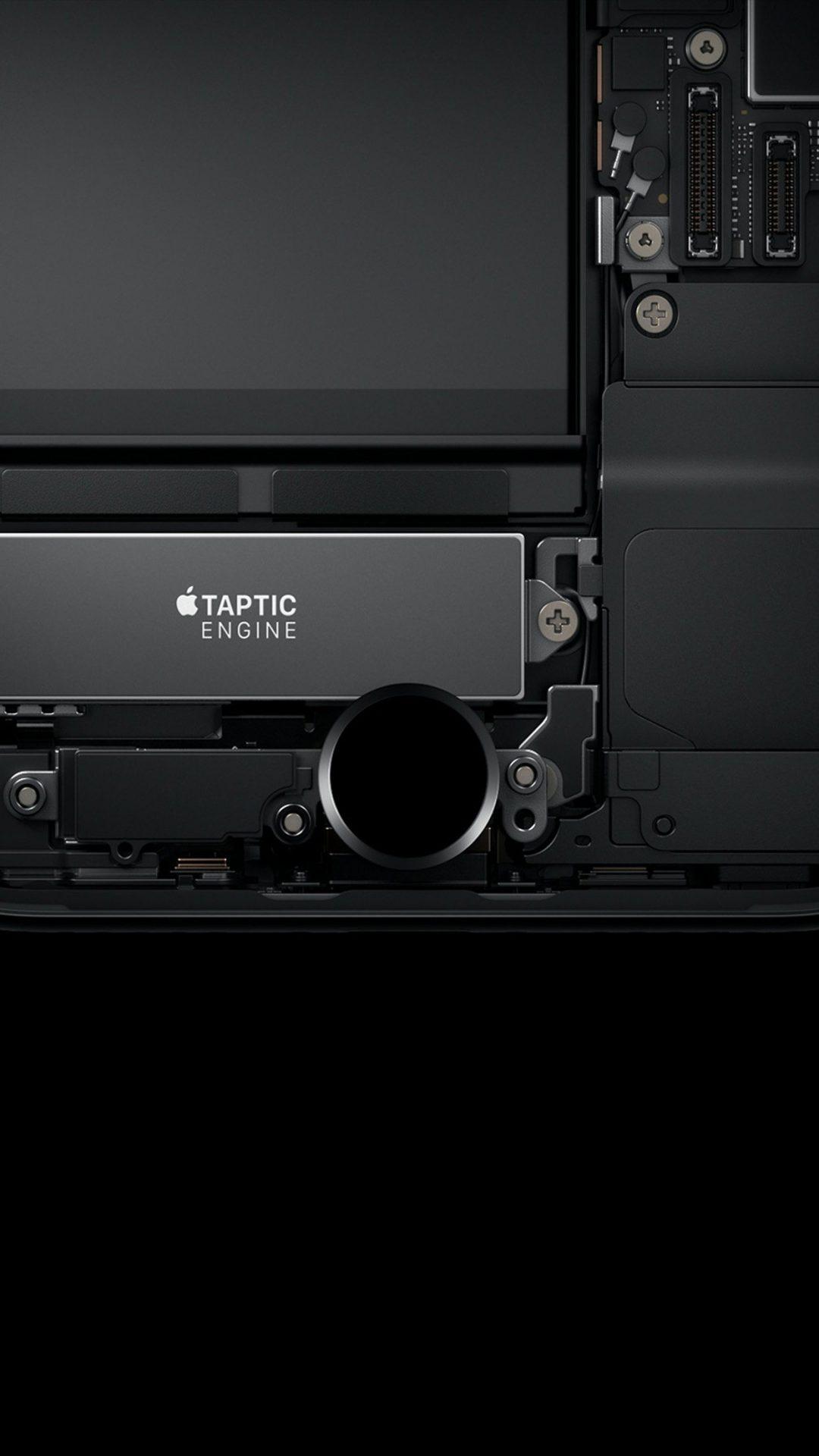 Dark Minimal Iphone7 Haptic Art Illustration Apple