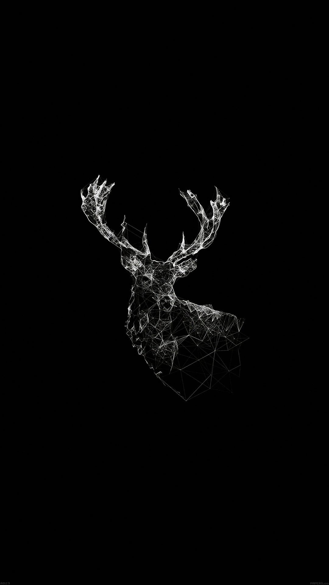 Deer Animal Illust Dark