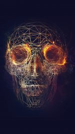 Digital Skull Dark Abstract Art Illustration