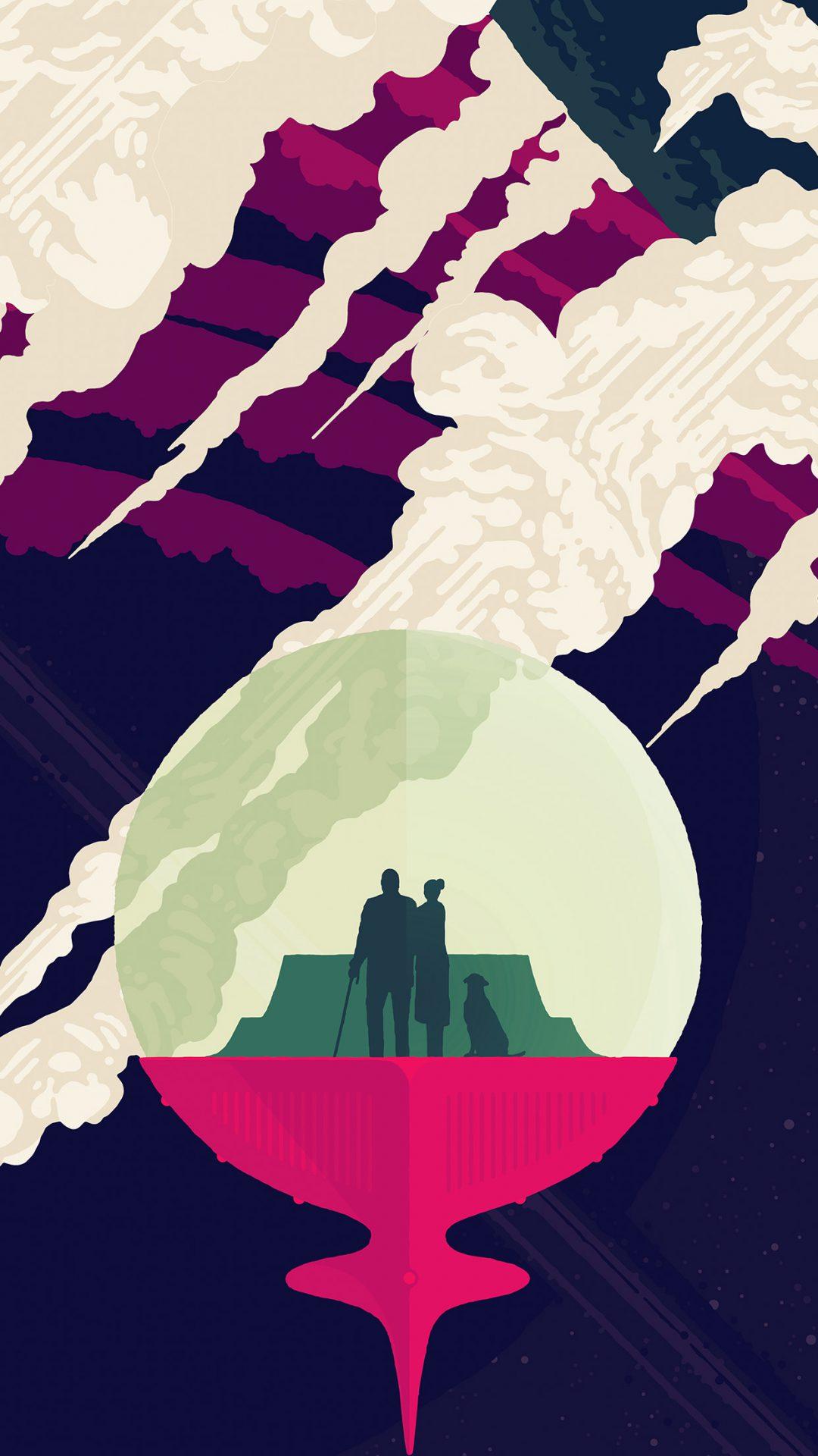 Elceladus Poster Art Illustration Space Blue