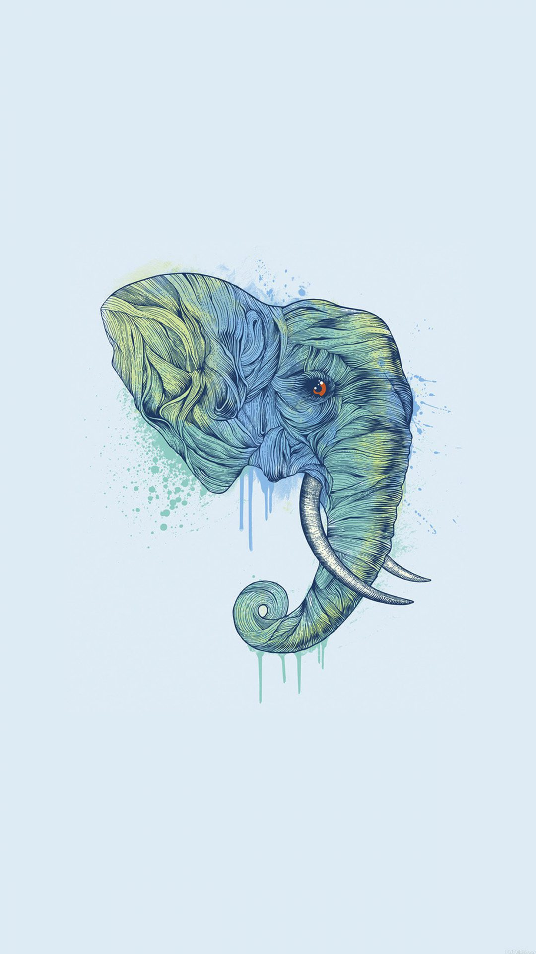 Elephant Art Illust Drawing Animal