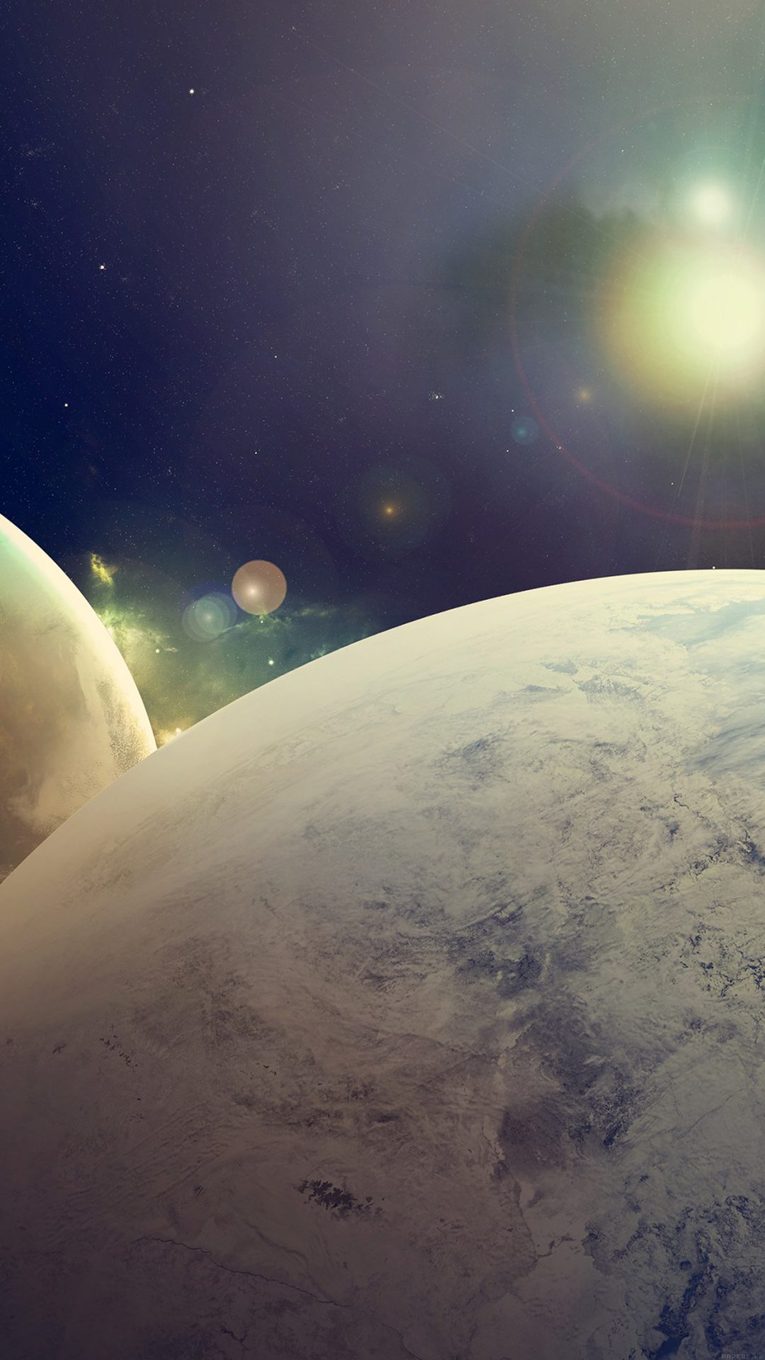 Flare Space Art Dark Planet Nasa