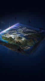 Flat Earth Art Illust Space