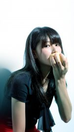 Girl Asian Eating Apple Cute