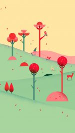 Google Lollipop September Fall Mountain Animals