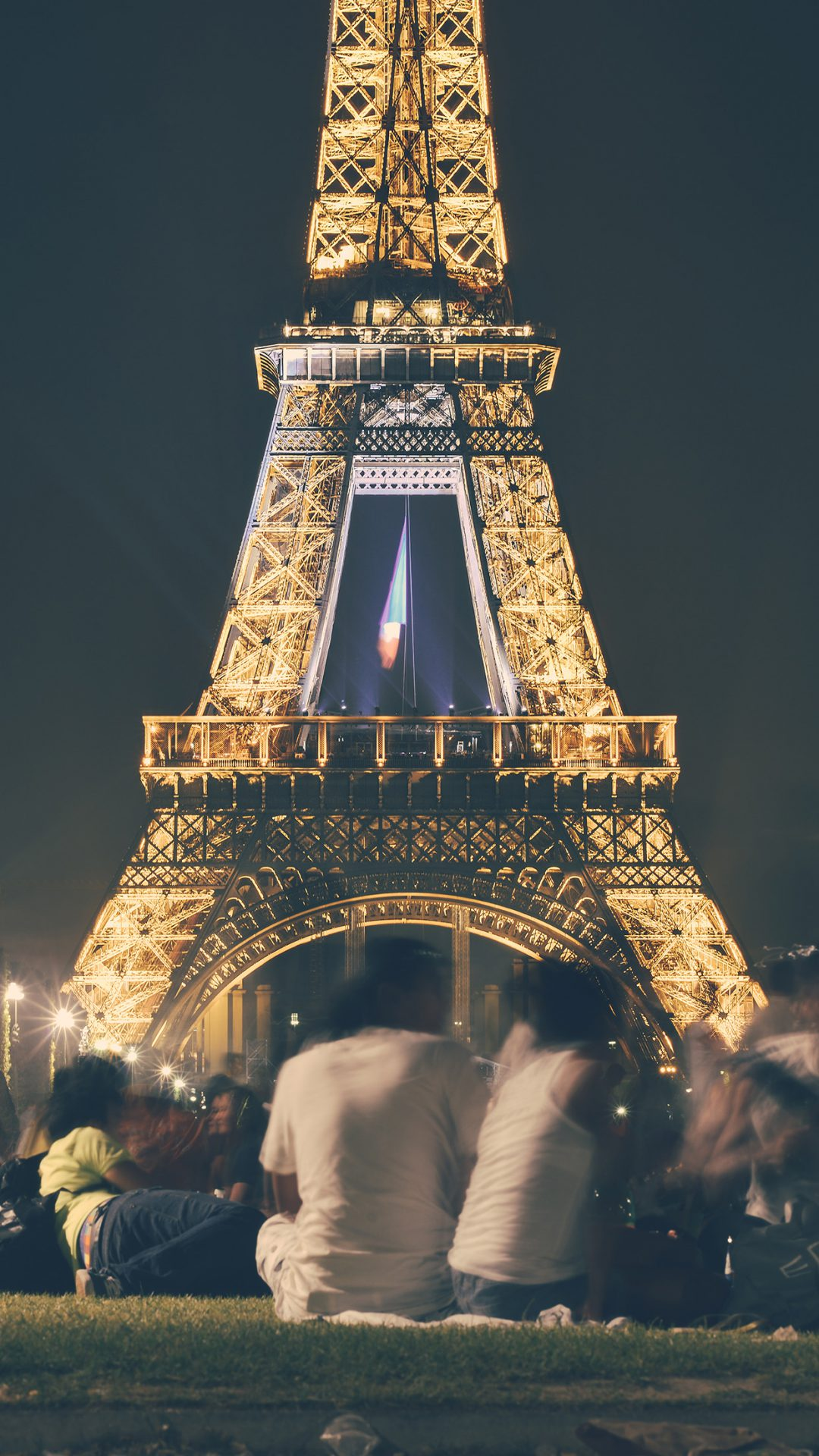 Happy Paris Eiffel Tower France Tour Night City