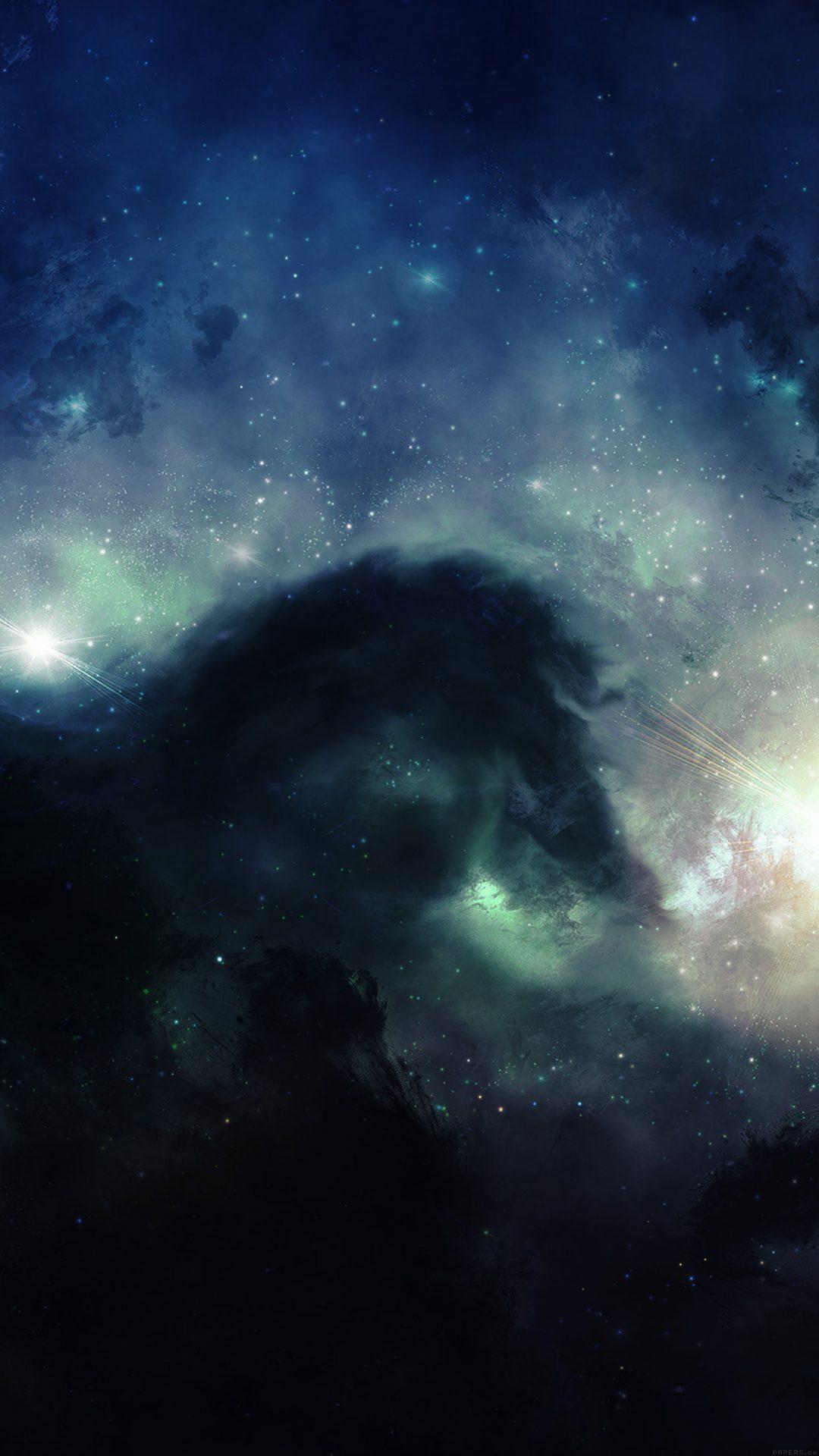 Illuminating Space Blue Star Galaxy Art