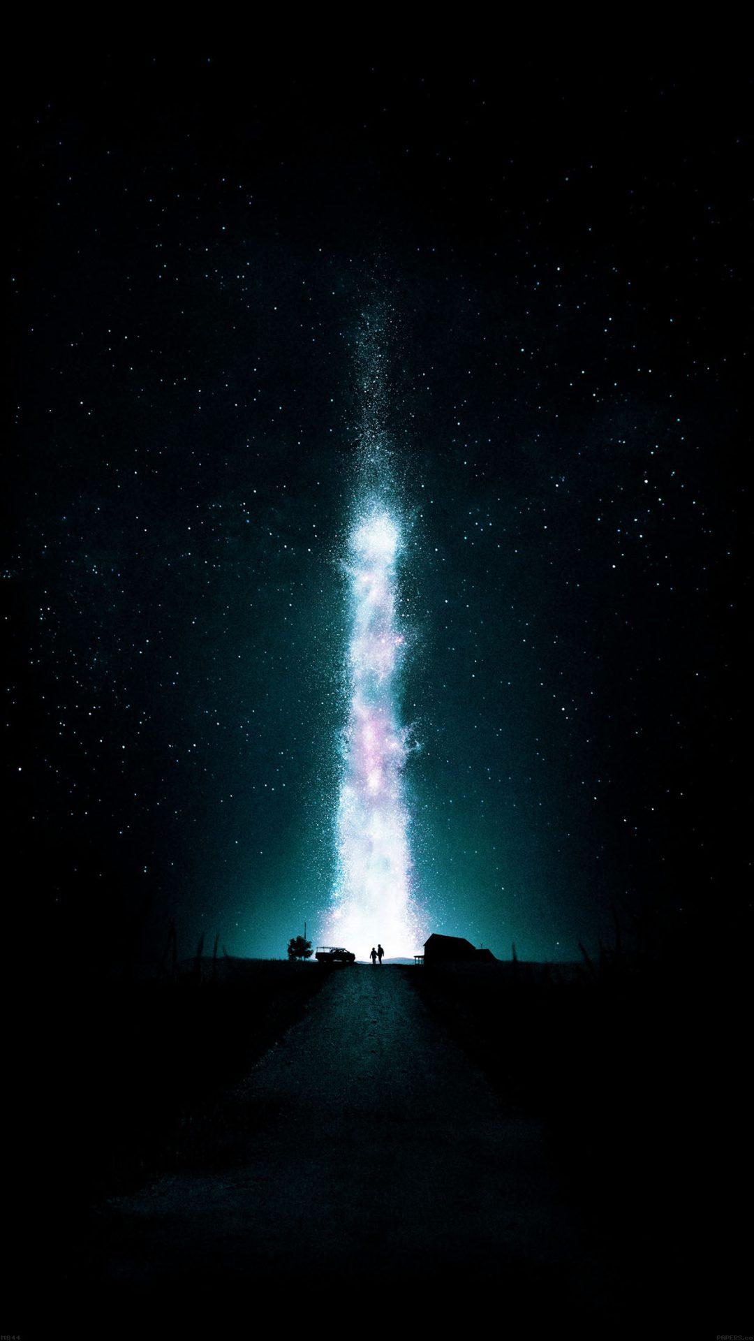 Interstellar Green Space Night Stars Fire Best