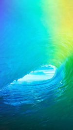 Ios9 Apple Wave Rainbow Sea Ocean